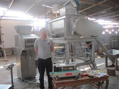 CJ-H卧式粉体混合附聚生产设备