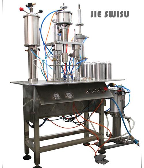 1600B半自动气雾剂灌装设备联动机